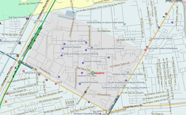 Kasetsart Campus Map